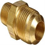 JMF 41166 3/8 Flare x 1/4 Male Yellow Brass Connector - Pack of 10